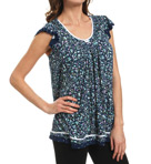 Ellen Tracy Making A Splash Short Sleeve Top 8415314