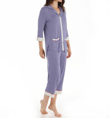 Ellen Tracy Equinox 3/4 Sleeve Cropped PJ Set 8715328