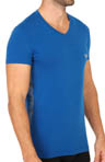 Emporio Armani Seven Stripes Stretch Cotton V-Neck T-Shirts 11081053