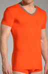 Colored Cotton Stretch V-Neck Tee