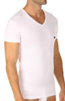 Pima Rib Stretch Cotton V-Neck