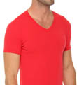 Colored Stretch Cotton V-Neck Image
