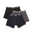 100% Cotton Boxer Briefs - 3 Pack