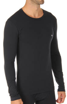 Basic Stretch Cotton Long Sleeve