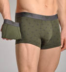 Emporio Armani All Over Eagle Stretch Cotton 2pk Trunk 111210B