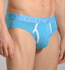 Contrast Color Stretch Cotton Brief