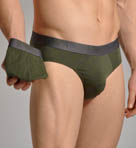 All Over Eagle Stretch Cotton Brief - 2 Pack