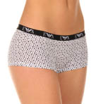 Lilla Printed Stretch Cotton Boyshort Panty