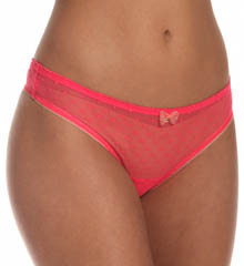 Emporio Armani Coquette Dotted Mesh Thong 162468CD
