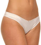 Emporio Armani Diamond Satin And Lace Thong 162607D