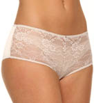Emporio Armani Diamond Satin And Lace Boyshort Panty 162625D