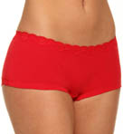 Emporio Armani Lilla Cotton With Lace Boyshort Panty 163001L