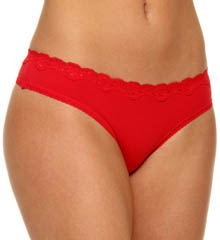 Lilla Cotton with Lace Thong