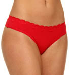 Emporio Armani Lilla Cotton with Lace Thong 163002L