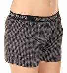 Emporio Armani Tie Pattern Woven Shorts 163012