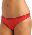 Emporio Armani Caresse Light Solid Microfiber Logo Thong 62468235