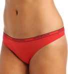 Caresse Light Solid Microfiber Logo Thong