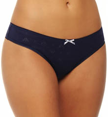 Eagle Design Jacquard Cotton Rib 2 Pack Thong
