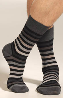 Block Stripe Sock