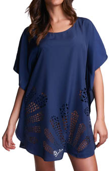 Malabo Laser Cut Kaftan Swim Cover Up