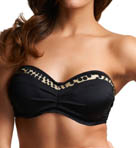 Mauritius Underwire Pleated Bandeau Swim Top