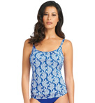 Kashmir Scoop Neck Underwire Tankini Swim Top Image