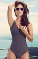 Malola Adjustable Leg V-Neck Underwire Swimsuit Image