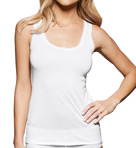 fine lines Pure Cotton Wide Strap Rounded Neck Cami 13RTS34