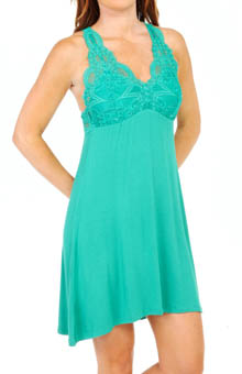 Lace T-Back Tank Dress