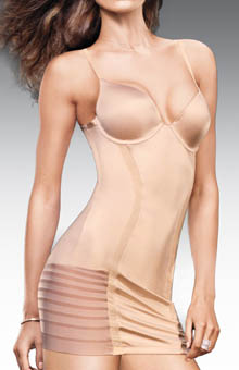 Flexees Sleek Stripes Full Slip 1224