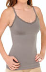 Ready to Shape V Neck Lace Trimmed Tank Image