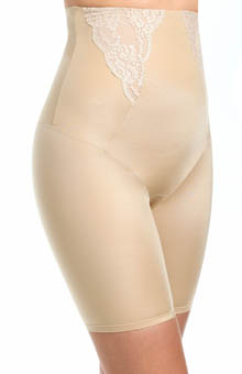 Flexees Vintage Chic High Waisted Thigh Slimmer with Lace 2042