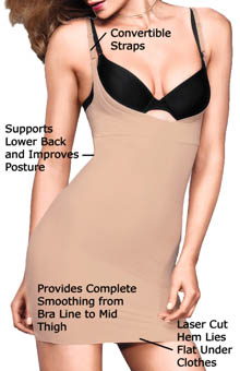 Flexees Take Inches Off Wear Your Own Bra Slip 2541