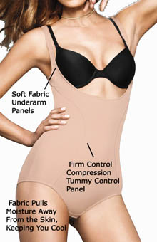 Flexees Ultimate Slimmer Wear Your Own Bra Torsette