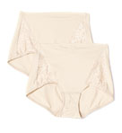 Lace Control Brief Panties 2 Pack
