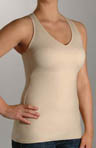Flexees Fat Free Dressing Racer Back Tank w/ Foam Cups 4166