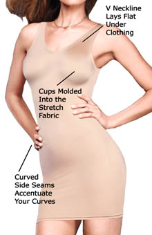 Fat Free Dressing V Neck Molded Slip