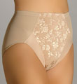Flexees Take Inches Off Jacquard Hi-Cut Brief Panty 5564