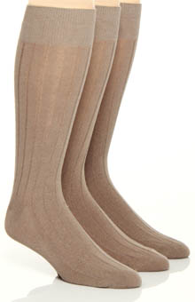 Florsheim Socks Fashion Basics Solid Rib Socks - 3 Pack