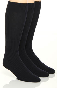 Florsheim Socks Classics True Rib Cushioned Sole Socks - 3 Pack