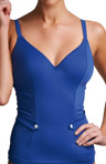 Fever Underwire Deep Plunge Tankini Swim Top