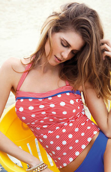 Hello Sailor Underwire Bandeau Tankini Swim Top
