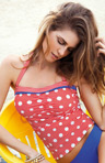 Hello Sailor Underwire Bandeau Tankini Swim Top Image