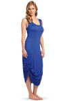 Gigi Drawstring Jersey Maxi Dress