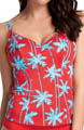 South Pacific Underwire Plunge Tankini Swim Top Image