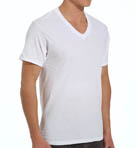Mens Core 100% Cotton V-Neck T-Shirts - 3 Pack