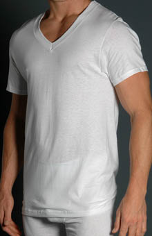 V Neck T-Shirts Big Man 3 Pack