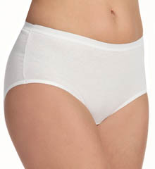 Fruit Of The Loom Ladies White Cotton Brief Panties - 3 Pack 3DBRIWH