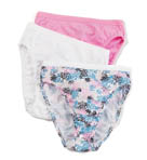 Fruit Of The Loom Ladies' Cotton Hi Cut Panties Multi 3 Pack 3DHICAS