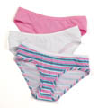 Ladies' Cotton Hipster Panties Multi 3 Pack Image